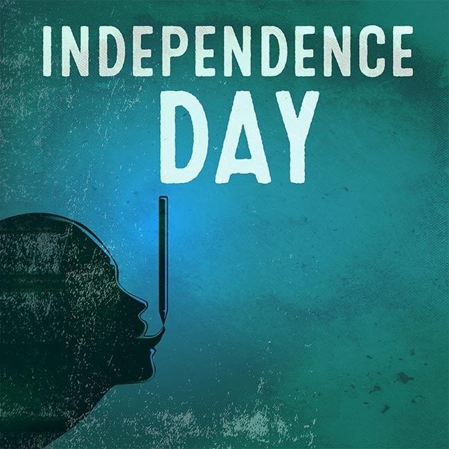 Illustration ist meine persönliche Unabhängigkeitserklärung: mit Bleistift, japanischem Tuschepinsel und Photoshop