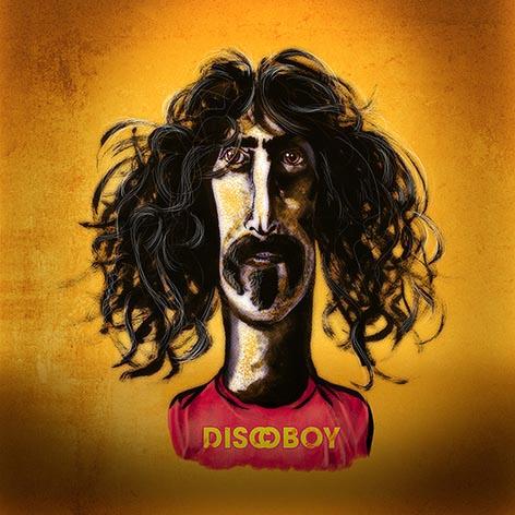 Karikatur von Frank Zappa