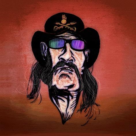 Lemmy Kilmister – Karikatur