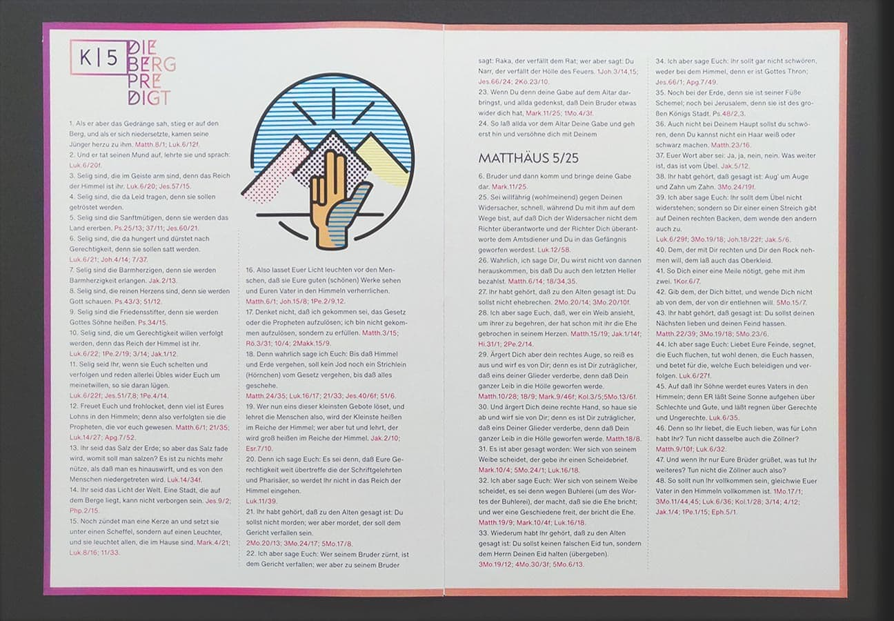 Exemplarische Innenseite offen für das Münsteraner Evangeliar