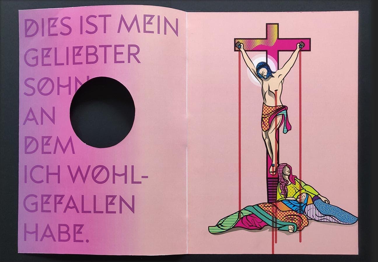 Titel offen für das Münsteraner Evangeliar, Sonderform mit kreisrunder Stanze