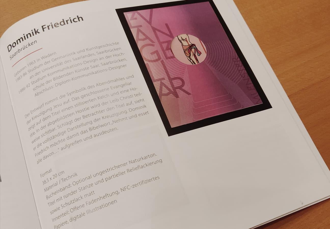 Meine Seite im Wettbewerbs-Katalog zum Münster Evangeliar