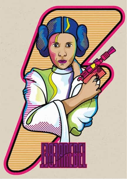 Prinzessin Leia aus Star Wars – Vektor Illustration